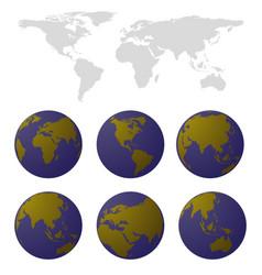World map set vector