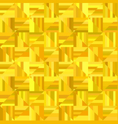 Yellow abstract striped square tile mosaic vector