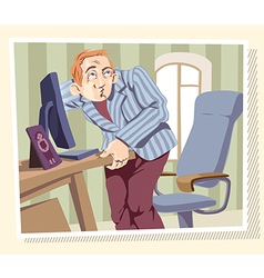 Browsing the Internet vector image vector image