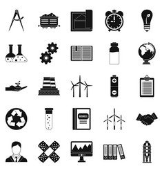 Expenses icons set simple style vector