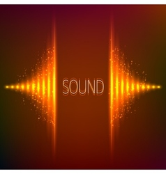 Orange neon stereo equalizer vector image vector image
