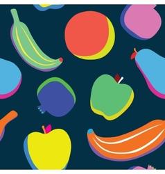 Pop art fruits pattern vector