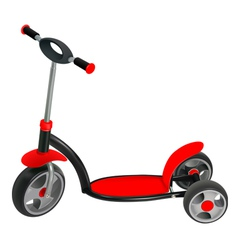 push scooter vector image vector image