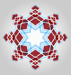 Red festive christmas star vector image vector image