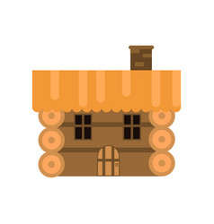 rustic wooden log cabin vector image