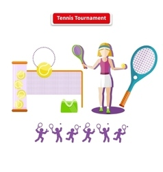 Tennis Tournament Concept vector image