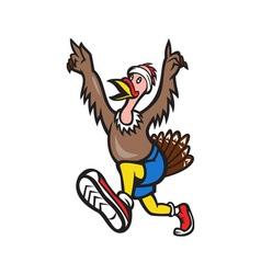 Turkey run runner cartoon isolated vector