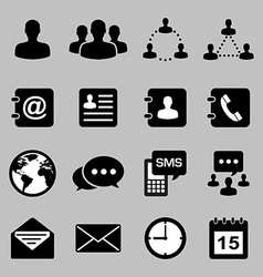 Icon set of business eps 10 vector image vector image