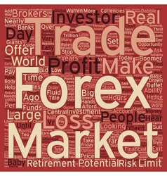 Just Who Trades Forex Currencies text background vector image vector image