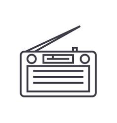 radioradioreceiver line icon sign vector image