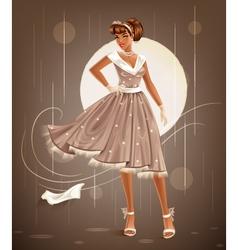 retro dress vector image