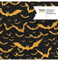seamless halloween textured pattern vector image vector image