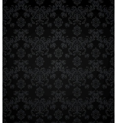Wallpaper pattern black seamless vector image vector image