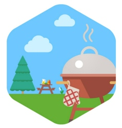 BBQ Grill Party vector image