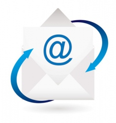 email arrow envelope vector image