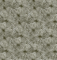 Engraved palm leaf vector image vector image