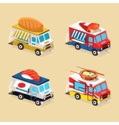Food Truck Designs Collection of vector image