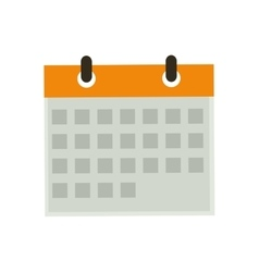 Isolated calendar date vector image
