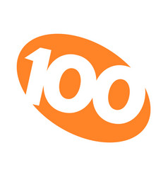 number 100 vector image vector image