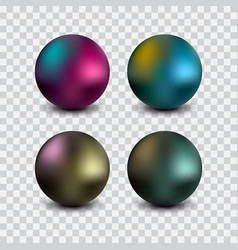 realistic ball vector image vector image