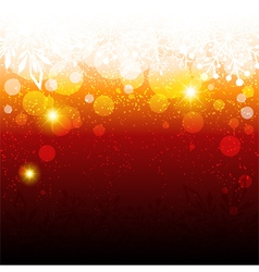 Sparkling Red Christmas Snowflake Background vector image vector image