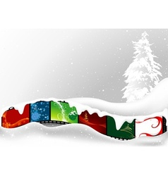 white christmas card vector image vector image