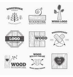 Wood products logo vector image