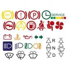 car dashboard signs vector image vector image
