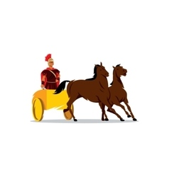Chariot with a Roman gladiator sign vector image vector image