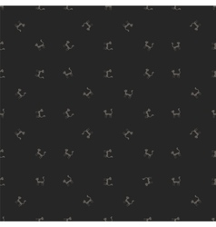 Grey Cats Seamless Pattern Animal Pets vector image