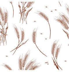 organic wheat harvest bakery seamless background vector image
