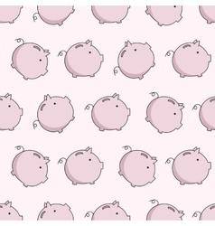 pig seamless puttern vector image
