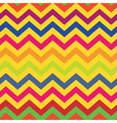 seamless pattern colorful chevron vector image vector image