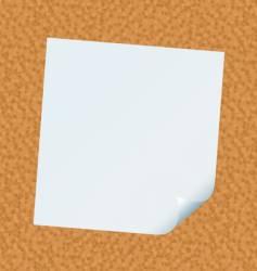 stick note cork vector image