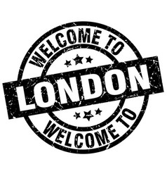 welcome to london black stamp vector image vector image