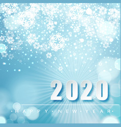 2019 blue christmas typography design winter vector image