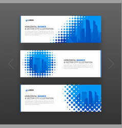 Abstract corporate web banner slideshow template vector