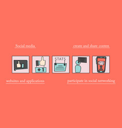 Abstract social media background with lines vector