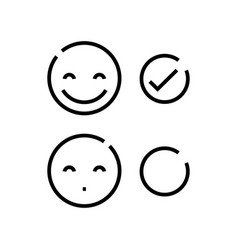 Affective evaluation line icon concept sign vector