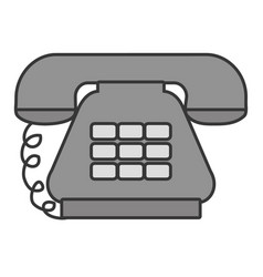 Antique telephone communication vector
