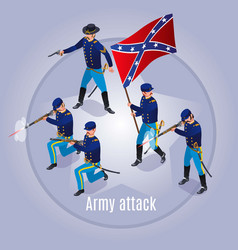Army attack wild west america vector