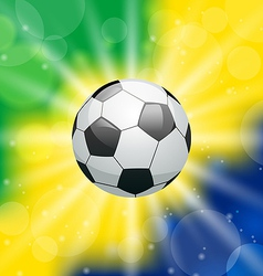 Background with soccer ball for Brazil 2014 vector image