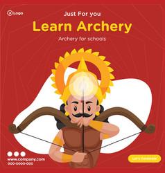 Banner design learn archery vector