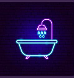 Bath neon sign vector