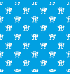 Beaver pattern seamless blue vector