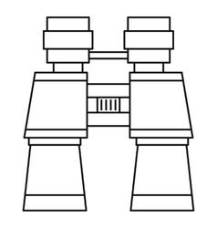 Binoculars icon outline style vector image