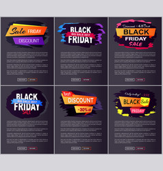 black friday big sale 2017 on vector image