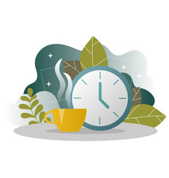 business coffee break landing page lunch time vector image