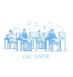 call center concept customer support service vector image