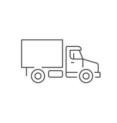 cargo van line outline icon vector image